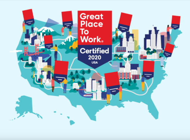 Great Place to Work USA map image