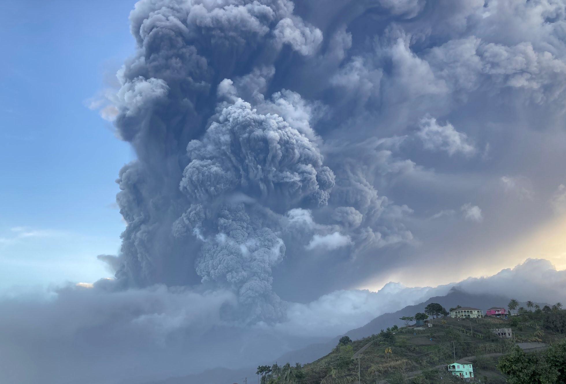 La Soufriere Volcano Eruption on the Island of St. Vincent